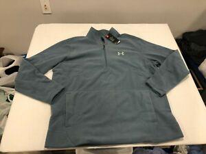 NWT $65.00 Under Armour Mens CG Offgrid Fleece 1/4 Zip Shirt Lichen Blue Sz 3XL