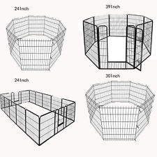 "8-16panel 24�30""39"" Foldable Detachable Pet Playpen Dog Exercising Barrier Fence"