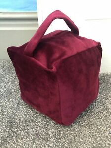 Hand Made Plush Velvet Square Door Stop Cover With Handle Unfilled