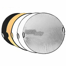 """110cm 43"""" 5 in 1 Light Multi Collapsible Reflector Photo Disc Kit Set"""