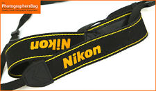 Nikon  Black & Yellow Genuine Camera Strap - faded / worn  1 fastener+FreeUKPOST