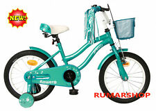 nieuw AMIGO Flower 16 Inch 26 cm Girls Coaster bicycle fahrrad fiets Turquoise