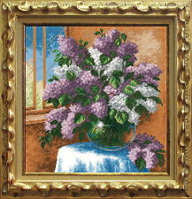Lilac - Cross Stitch Kit with Color Symbolic Scheme #458