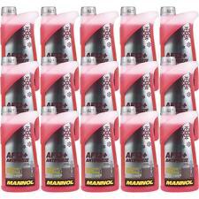 15x1 Liter MANNOL Kühlerfrostschutz Antifreeze AF 12+ Frostschutz -40°C rot rosa