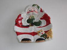 """Fitz And Floyd Classics Santa Serving Plate - """"Santa"""""""