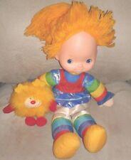 Vintage Rainbow Bright Plush Doll 83 Plushie 80s squeak Brite O.J Orange Sprite
