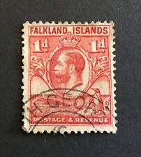 FALKLAND ISLANDS 1929-1936 1d Red Shade, Used SOUTH GEORGIA.