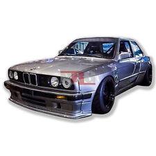 E30 3 Series 84-91 BMW full wide body kit Lip Sides Wing fiberglass GT-E30FK