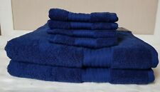 NWT Ralph Lauren Marine Blue Bath and Wash Cloth Towels Cloth Greenwich 6Pc Set