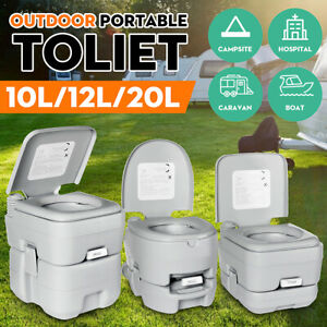 Portable Camping Toilet Porta Potty Seat Outdoor Mobile WC Site Travel Fishing