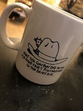 Vtg What The Cowboy Did To The Milk Maid Fair, doug wilkon herd from the pen mug
