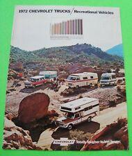 1972 CHEVROLET CAMPER & REC VEHICLES COLOR CATALOG BROCHURE Pick-Up SUBURBAN 4WD