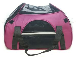 Soft Sided Airline Approved Pet Carrier for Travel ~ Magenta (Purple) ~ Read!