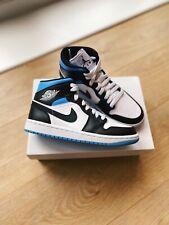 Nike Air Jordan 1 Mid Royal Black/University Blue UK 3.5/US 6 *READY TO SHIP* ✅