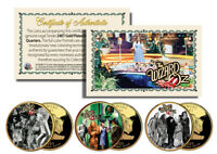 Wizard of Oz MOVIE SCENES Gold Plated Kansas State Quarter 3-Coin Set LICENSED