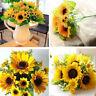 7 Heads Artificial Sunflower Plant Party Decor Bouquet Home Fake Flowers Wedding
