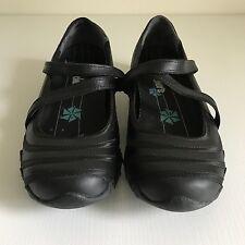 Skechers Womens Girls Bikers Satin Shine Mary Jane Black Shoes Flats UK Size 3
