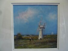 "James J Allen Signed Oil on Board ""A Spring Day at Thurne Mill, Norfolk"" Broads"