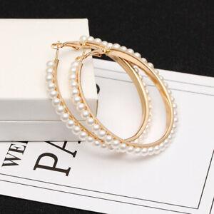 Hoop Earrings Pearls Earrings Ear Stud Earrings Hoop Earrings Clips 55 CM