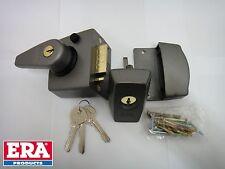 ERA 40mm HIGH SECURITY BS DARK GREY NIGHT LATCH NIGHTLATCH & CYLINDER, NEW