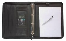 Ring Binder A4 Conference Black Deluxe Leather Look Business  Portfolio 301071