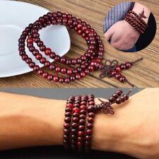 1pc 108 Perles de Prière Méditation Bouddhiste Santal Bouddha Mala Bracelet 6mm