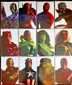Alex Ross Timeless Virgin Variants Complete 34 Comic Set w/ 1 Spiderwoman Sketch