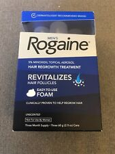 New Men's Rogaine 3 Month Supply Foam Solution Exp:07/2020 or better!