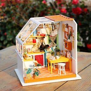 Robotime DIY 3D Model Kit LED Light Miniature Woodcraft Gift Jason's Kitchen UK