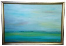 """Original Abstract Impressionist Seascape Oil Painting Modern Frame Signed LE 65"""""""