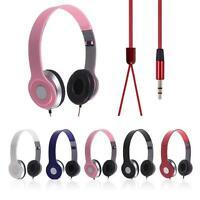 Over-Ear Adjustable 3.5mm Earphone Stereo Headset Headphone for Smartphone MP3