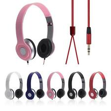 3.5mm Over-Ear Headphone Earphone Headset Stereo For Phone Laptop Tablet Set
