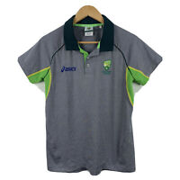 Asics Cricket Australia Womens Polo Shirt Top Size 10 Short Sleeve