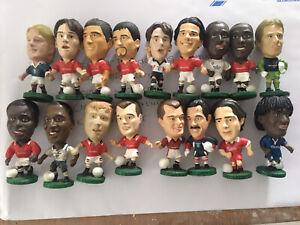 17 X Manchester United Leeds Etc Corinthians Football Figures Cantona 90s