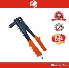 "10"" Hand Rivet Gun - Heavy Duty - 4 Interchangeable Tips"