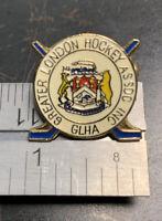 Greater London Ontario Hockey Assoc. Metal Enamel Pin - Vintage VG Cond