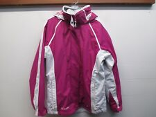 Columbia Women's Pink XCO 3 In 1 Winter Jacket w/ Removable White Fleece Liner L