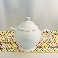 Fiestaware White Teapot Fiesta Large 44 oz Teapot with Lid