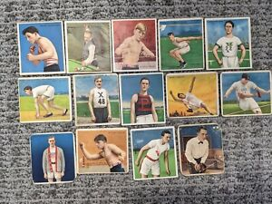 1910 T218 Mecca + Hassan Tobacco Champions of Sports 14 Card Lot- Boxing Running