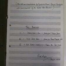 Arwel Hughes Tri darlun, VOCAL SCORE, 1975