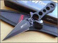 MTECH FIXED BLADE BOOT KNIFE DAGGER DOUBLE EDGE FULL TANG 440 STAINLESS W SHEATH