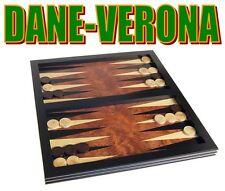 Gioco BackGammon - Tavoletta 36 cm in Legno Intarsiato e Lavorato