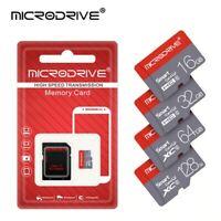 Carte-Memoire-MicroSD-HC-MICRODRIVE-Dispo en-8-16-32-64-ou-128-Gb-+lecteur sd