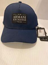 Armani Exchange A|X Men's Baseball Adjustable  Cap/Hat BLUE & White
