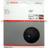 Bosch MEDIUM Sanding Pad 125mm Rubber Base Plate PEX 12 125 A AE A-1 2608601062