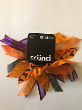Scunci Witch Hat Hair Tie Ribbons Halloween Black Orange Green Purple Gold