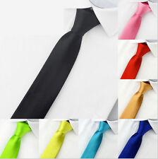 Krawatte schmal ROT Herren Damen  Hochzeit Business Schlips Anzug festlich