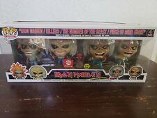 Funko Pop! Rocks: Iron Maiden (Glow in the Dark!) 4-Pack Set A.E. Exclusive Nib