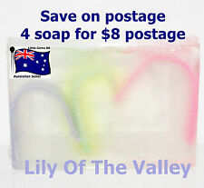 HANDMADE NATURAL TRANSPARENT SOAP Lily Of The Valley 100GRAMS ~ 4 for $8 Postage