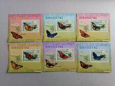 Mozambique 2007. Hojitas deluxe imperforadas. Mariposas
